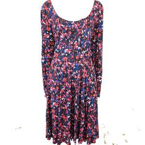 HD IN PARIS Anthropologie Stretch Print Dress ~ XL